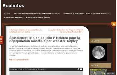 http://realinfos.wordpress.com/2011/06/04/ecoscience-le-plan-de-john-p-holdren-pour-la-depopulation-mondiale-par-webster-tarpley/