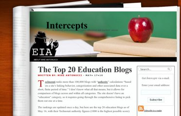 http://www.eiaonline.com/intercepts/2010/05/17/the-top-20-education-blogs/