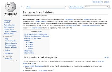http://en.wikipedia.org/wiki/Benzene_in_soft_drinks