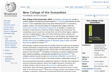 http://en.wikipedia.org/wiki/New_College_of_the_Humanities
