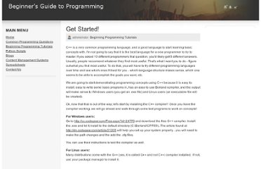 http://www.guidetoprogramming.com/joomla153/beginning-programming-tutorials/11-get-started