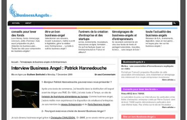 http://businessangels.fr/business-angel-entrepreneur-temoignages/interview-business-angel-patrick-hannedouche/