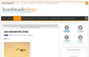 http://www.handmadeology.com/lovely-wire-knot-ring-tutorial/