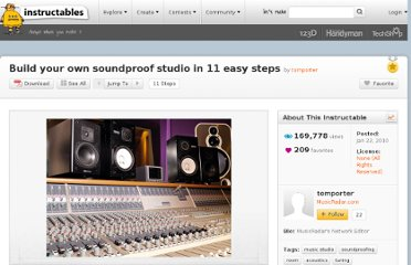 http://www.instructables.com/id/Build-your-own-soundproof-studio-in-11-easy-steps/