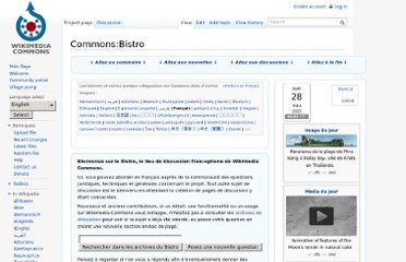 http://commons.wikimedia.org/wiki/Commons:Bistro