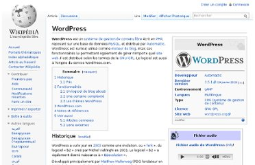 http://fr.wikipedia.org/wiki/WordPress