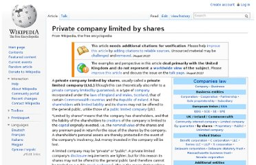http://en.wikipedia.org/wiki/Private_company_limited_by_shares