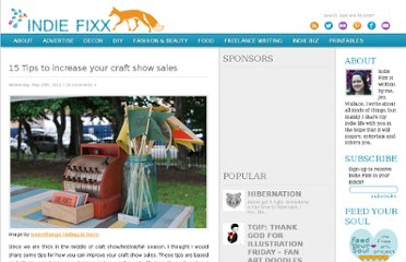 http://indiefixx.com/2011/05/25/15-tips-to-increase-your-craft-show-sales/