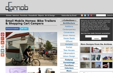 http://dornob.com/small-mobile-homes-bike-trailers-shopping-cart-campers/