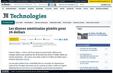 http://www.lemonde.fr/technologies/article/2009/12/17/les-drones-americains-pirates-pour-26-dollars_1282340_651865.html