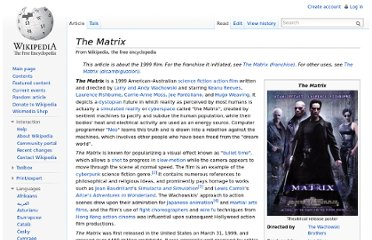 http://en.wikipedia.org/wiki/The_Matrix