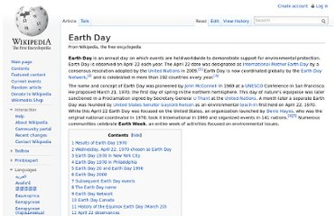 http://en.wikipedia.org/wiki/Earth_Day
