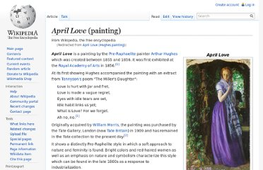 http://en.wikipedia.org/wiki/April_Love_(Hughes_painting)