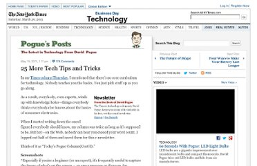 http://pogue.blogs.nytimes.com/2011/05/19/25-more-tech-tips-and-tricks/