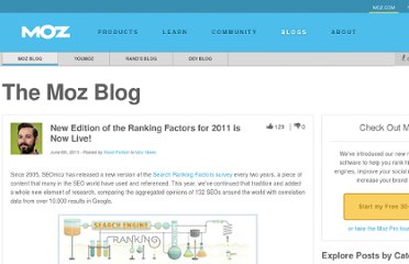 http://www.seomoz.org/blog/new-edition-ranking-factors-for-2011-live