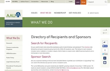 http://www.aauw.org/learn/fellows_directory/