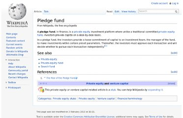http://en.wikipedia.org/wiki/Pledge_fund