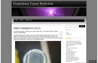 http://prometheusfusionperfection.com/2009/11/15/first-fusion/