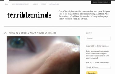http://terribleminds.com/ramble/2011/06/07/25-things-you-should-know-about-character/
