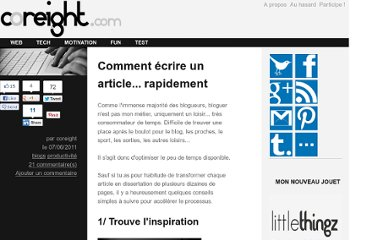 http://coreight.com/content/comment-ecrire-un-article-rapidement
