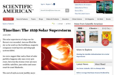 http://www.scientificamerican.com/article.cfm?id=timeline-the-1859-solar-superstorm