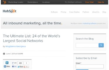 http://blog.hubspot.com/blog/tabid/6307/bid/15931/The-Ultimate-List-24-of-the-World-s-Largest-Social-Networks.aspx