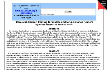 http://www.coachr.org/core_stabilisation_training_for.htm