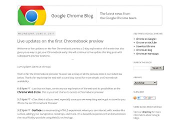 http://chrome.blogspot.com/2011/06/live-updates-on-first-chromebook_07.html