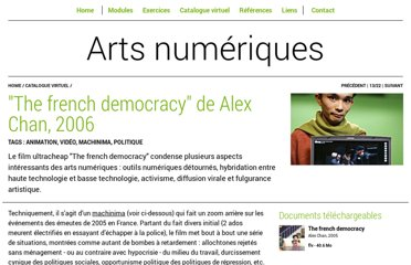 http://arts-numeriques.codedrops.net/The-french-democracy-de-Alex-Chan