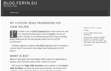http://blog.feryn.eu/2011/02/my-custom-zend-framework-esi-view-helper/