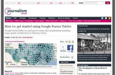 http://www.journalism.co.uk/skills/how-to-get-started-using-google-fusion-tables/s7/a544215/