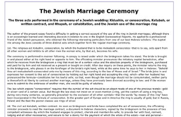 http://www.jjkent.com/articles/jewish-marriage-ceremony.htm
