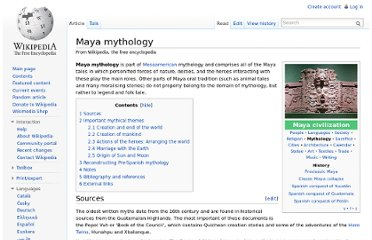 http://en.wikipedia.org/wiki/Maya_mythology