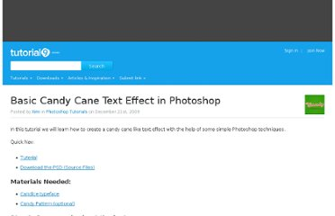 http://www.tutorial9.net/tutorials/photoshop-tutorials/basic-candy-cane-text-effect-in-photoshop/
