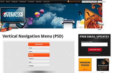 http://creativeoverflow.net/vertical-navigation-menu-psd/