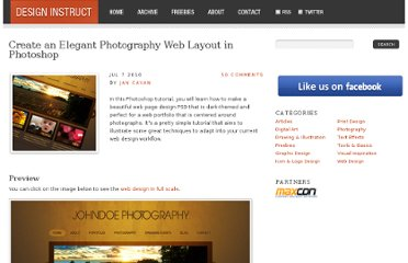 http://designinstruct.com/web-design/create-an-elegant-photography-web-layout-in-photoshop/