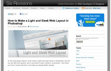 http://sixrevisions.com/tutorials/photoshop-tutorials/how-to-make-a-light-and-sleek-web-layout-in-photoshop/