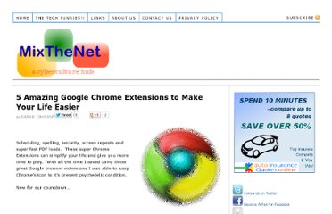 http://www.mixthenet.com/google-chrome-extensions-make-life-easier/