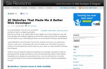http://sixrevisions.com/web-development/20_websites_better_web_developer/