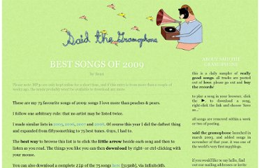 http://www.saidthegramophone.com/archives/best_songs_of_2009.php
