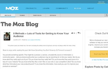 http://www.seomoz.org/blog/8-methods-for-getting-to-know-your-audience