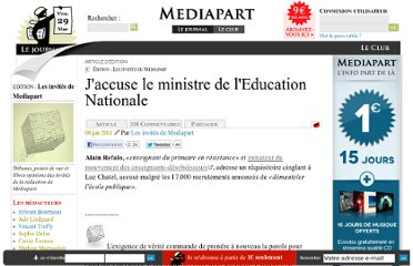 http://blogs.mediapart.fr/edition/les-invites-de-mediapart/article/080611/jaccuse-le-ministre-de-leducation-nationale