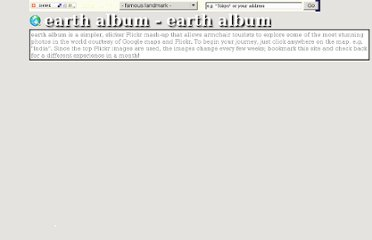 http://www.earthalbum.com/area/earth%20album