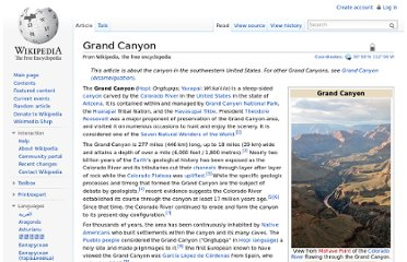 http://en.wikipedia.org/wiki/Grand_Canyon