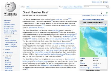 http://en.wikipedia.org/wiki/Great_Barrier_Reef