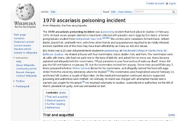http://en.wikipedia.org/wiki/1970_ascariasis_poisoning_incident