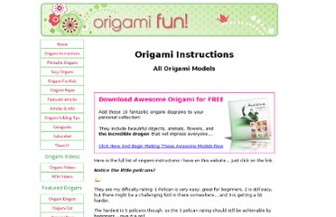 http://www.origami-fun.com/origami-instructions.html