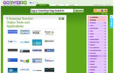 http://www.go2web20.net/#tag:e-learning+tag:teacher