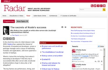 http://radar.oreilly.com/2011/06/node-javascript-success.html