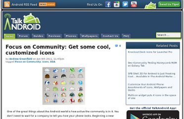 http://www.talkandroid.com/42604-focus-on-community-get-some-cool-customized-icons/